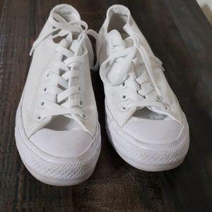 All white mono converse